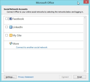 Outlook 2013 Preview - Connect to your social Contacts 2