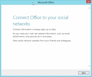 Outlook 2013 Preview - Connect to your social Contacts