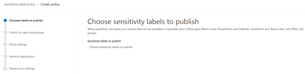 Sensitivity Labels in Teams, SharePoint Sites and Microsoft 365 Groups